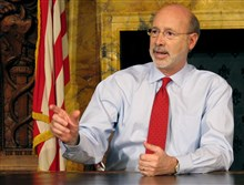 "The state budget is now on Gov. Tom Wolf's desk, but legislators say negotiations on revenue are still ""a work in progress."""