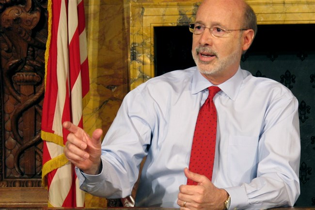Pennsylvania Gov. Tom Wolf plans to veto a bill softening proposed rules for shale gas operators if the House approves the measure that the Senate passed Monday.