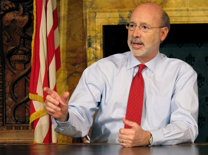 Pennsylvania Governor Prostate Cancer Pennsylvania Gov. Tom Wolf discusses his diagnosis of what he called treatable prostate cancer with members of the media in his Capitol offices, in Harrisburg, Pa.