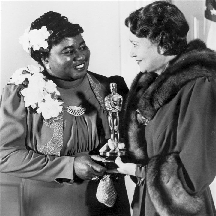 LeapHistory_Hattie The 1940 Academy Awards were handed out on Feb. 29, and were also memorable as Hattie McDaniel, left, became the first African-American to win.