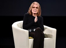 Gloria Steinem at a conference in February. She was interviewed for the Lands' End catalog by the company's chief executive.