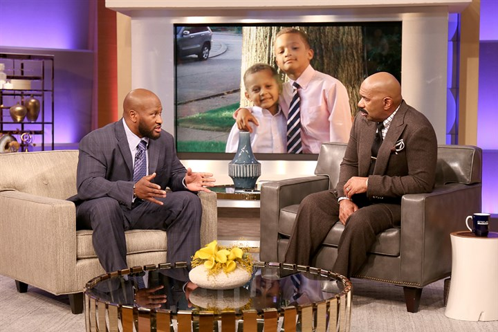 "Steve Harvey James Harrison James Harrison will be appearing on the ""Steve Harvey Show"" on Wednesday, where the topic will be old-school vs. new-school parenting techniques."