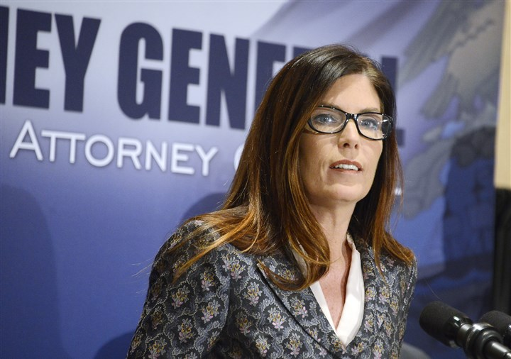 Kathleen Kane 03012016 State Attorney General Kathleen Kane on Tuesday discusses the rape and molestation charges against at least 50 priests in the Roman Catholic Diocese of Altoona-Johnstown.