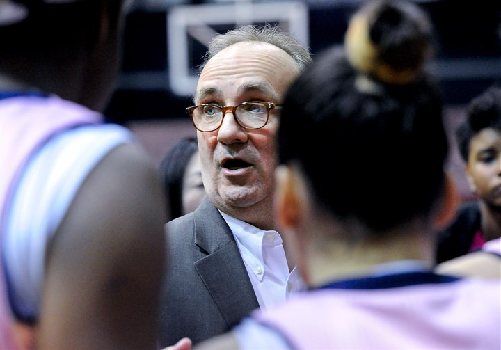20160229JHSportsRMU06-3 The tournament appearance will be the final one for longtime Robert Morris coach Sal Buscaglia, who will retire at the end of the season, his 13th at the university and 38th as a head coach.