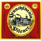 "This is the original label for Penn Brewery's Penn Pilsner, which started out as ""Pennsylvania Pilsner"" in 1986."