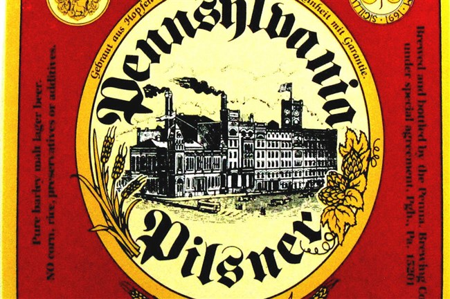 """This is the original label for Penn Brewery's Penn Pilsner, which started out as """"Pennsylvania Pilsner"""" in 1986."""