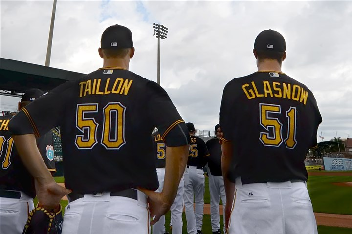 20160302pdPiratesSports08-3 Pirates pitching prospects Jameson Taillon and Tyler Glasnow could see the major leagues at some point this season.