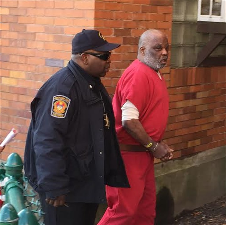 Bruce T. Kelley Sr. Bruce T. Kelley Sr. walks to his recent preliminary hearing in Wilkinsburg on Thursday on charges that included assault on police. On Sunday, Kelley was back in jail for being on Port Authority property, possessing a weapon and public drunkeness.