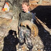 During his first time hunting, Connor Homan, 7, of Bell Acres shot this fox squirrel in Mineral County, West Virginia.