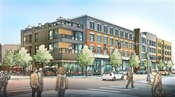 A rendering of the Arsenal Terminal mixed-use development at Butler and 40th streets in Lawrenceville.