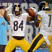 "Steelers receiver Antonio Brown (84) can start showing his moves on ""Dancing With The Stars."""