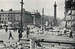 The General Post Office in Dublin after the Easter Rising of 1916.
