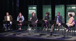 "From ""Reinventing The American City"" on March 8 at the August Wilson Center, host Michel Martin at far right."