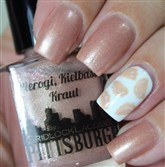 Pierogi, Kielbasa, Kraut is one of the latest Pittsburgh-inspired nail polishes by Gridlock Lacquer. It's $8 at www.gridlocklacquer.com.