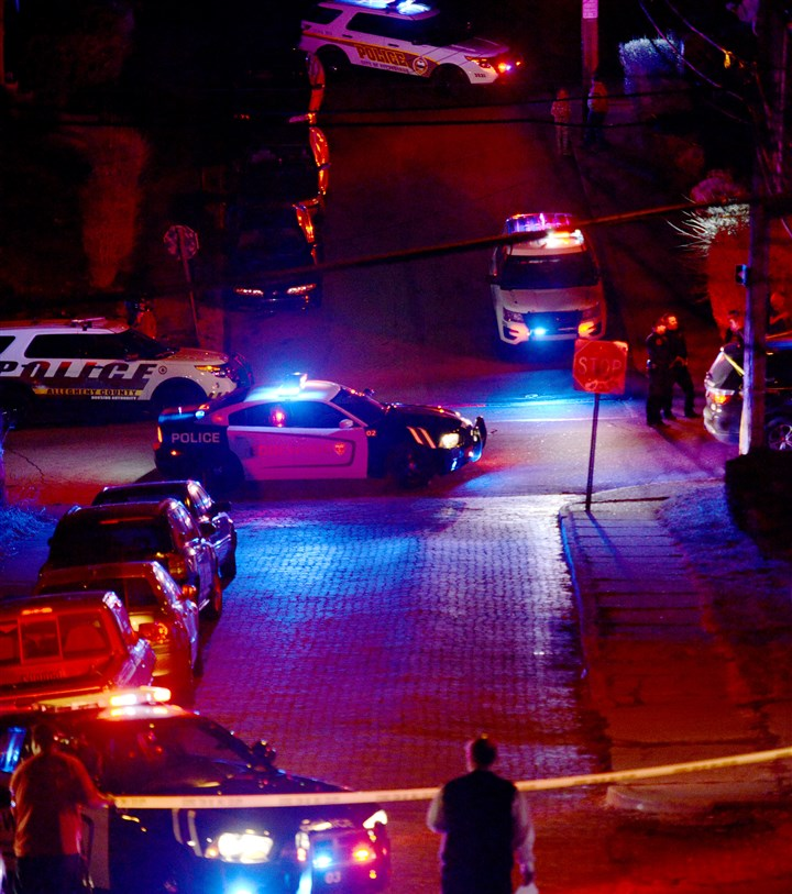 20160310MWHshootingLocal14-12 Police respond to the scene of a mass shooting in Wilkinsburg.