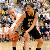Danielle McMaster, left, is leading an inexperienced Norwin team into the postseason.