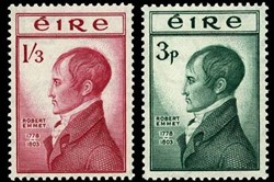Postage stamp honoring  Irish revolutionary Robert Emmet