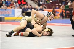 Franklin Regional standout Spencer Lee, seen here winning his third PIAA title, claimed global gold once again last weekend.