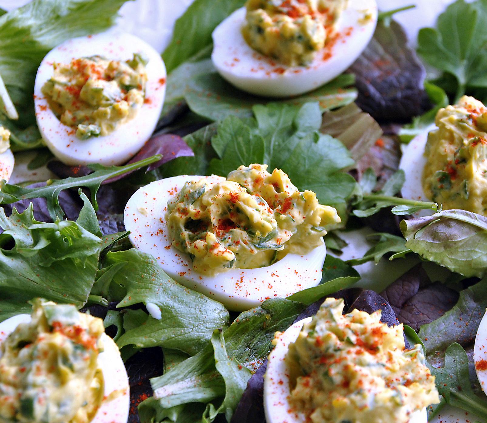 Bacon- Balsamic Deviled Eggs Recipes — Dishmaps