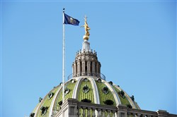 The Pennsylvania State Capitol building in Harrisburg.
