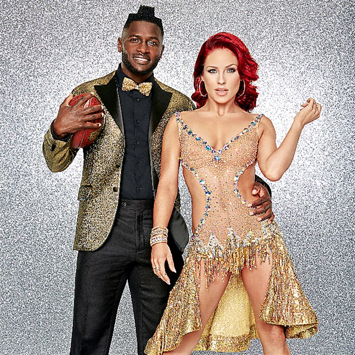 "142706-Antonio-Sharna-1957r1-1 Steelers wide receiver Antonio Brown is paired with professional dancer Sharna Burgess for the new season of ""Dancing With the Stars,"" premiering Monday."