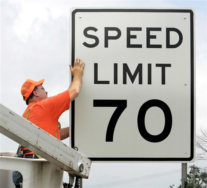 70mph2-1 After studying the issue for more than 18 months, the Pa. Turnpike Commission voted Tuesday to increase the speed limit on most of the toll road to 70 mph from the current 65. The change is set to go into effect in the spring.