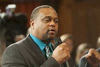 "State Rep. Ed Gainey: ""We see what's going on on the national level. And right now, in Pittsburgh, we know we want to build something that the community can get engaged in, and that officers can engage in. The reality is we need to go into our neighborhoods, each neighborhood, and talk about what the process is, how they feel, let their voice be heard, give them a way of speaking, so that we can come up with a common agenda, to talk about how we improve police-community relationships in the city of Pittsburgh."""
