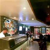 A view of the interior from the sushi bar at Pan Asian Kitchen in Lawrenceville.
