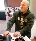All Eire: Irish boxing coach Michael Carruth in Pittsburgh in 2014 for the first Donnybrook.