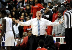 Former Aliquippa varsity basketball head coach Nick Lackovich, seen in action in a PIAA Boy's AA championship game in Hershey, Pa. in March 2016.