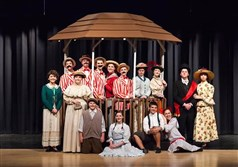"Cast members of ""The Music Man,"" Pine-Richland High School's  2016 spring musical."