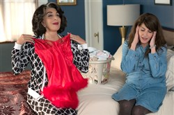 "Andrea Martin and Nia Vardalos in ""My Big Fat Greek Wedding 2."" the highly anticipated follow-up to the highest-grossing romantic comedy of all time."