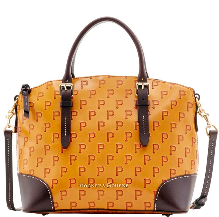 Dooney & Bourke Pirates handbag Dooney & Bourke's MLB Pirates domed satchel, $428 at www.dooney.com/mlb/pittsburgh-pirates.