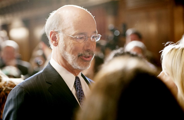"20160315rldGovPresser04-1 After stating he would allow the appropriations bill to become law, Gov. Tom Wolf said, ""We need to move on (from 2015-16). We need to confront the real challenge we have in the (2016-17) budget."""