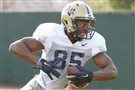 Pitt's Jester Weah goes through drills during practice on the South Side.