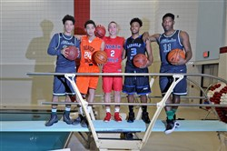 Allderdice's James Jackson, Beaver Falls' Josh Creach, North Hills' Nick Smith, Lincoln Park's Nelly Cummings, Allderdice's Ramon Creighton.