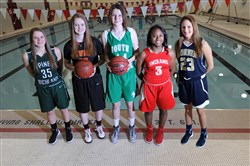 Pine-Richland's Amanda Kalin, Cardinal Wuerl North Catholic's Sam Breen, South Fayette's Emily Anderson, Penn Hills' Desiree Oliver, Norwin's Alayna Gribble.