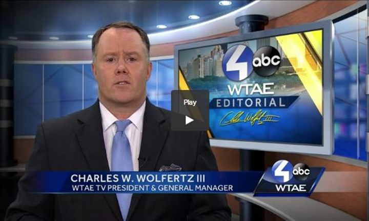 wtae_Bell.JPG WTAE-TV President and General Manager addresses viewers Thursday night.