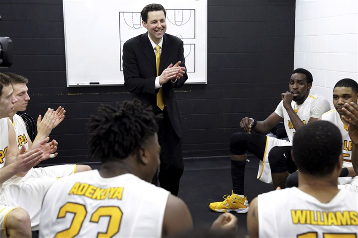 Drew2 Valparaiso head coach Bryce Drew talks to his team after an NCAA quarterfinal game in the Men's NIT Tournament.