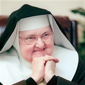 Mother Mary Angelica, seen in this 1999 photo, leaves behind indelible memories of the cable broadcasts she started in the 1980s  — by turns feisty, funny, folksy and ferocious.