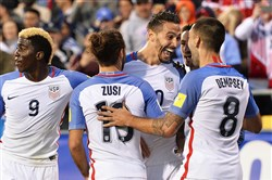 Geoff Cameron helped give the United States a quick 3-0 lead Tuesday in Ohio.