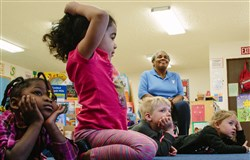 Jacqueline Price, of Beaver Falls, serves as a Foster Grandparent at Beaver County Head Start in Beaver Falls.