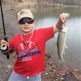 March 12, using a tipped jig in the year-round trout waters of Bradys Run Lake, Luke Lyons, 9, of Monaca released this 13-incher.