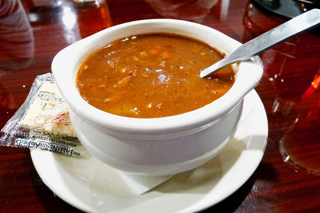 The famous turtle soup at the new Carmody's Grille on Neville Island.