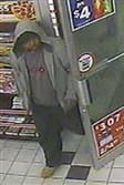 Surveillance footage of man suspected of robbing a Circle K in Washington County on Monday.