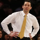 Bryce Drew coaches Valparaiso in the NIT championship March 31 in New York.