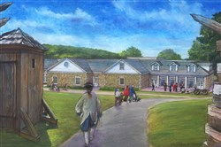 Rendering of the new education center that will be built at Fort Ligonier.