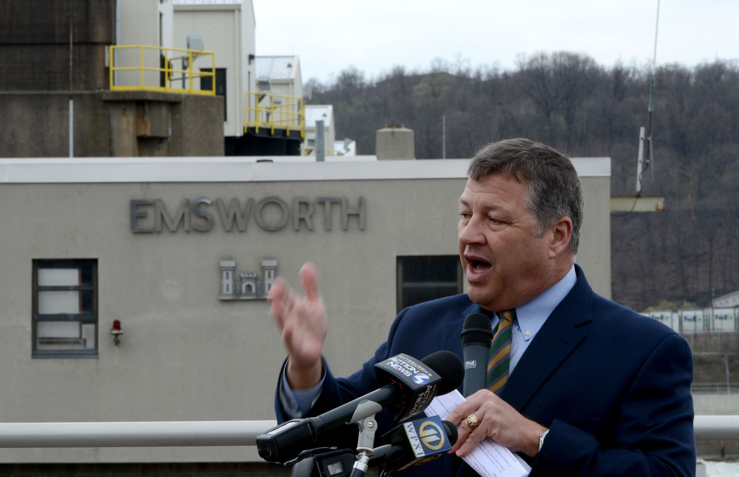 "20160406ppLocks0407BIZ3-2 U.S. Rep. Bill Shuster said he suspects the delay in authorizing the lock and dam work is ""a back handed"" part of President Barack Obama's war on the coal industry."