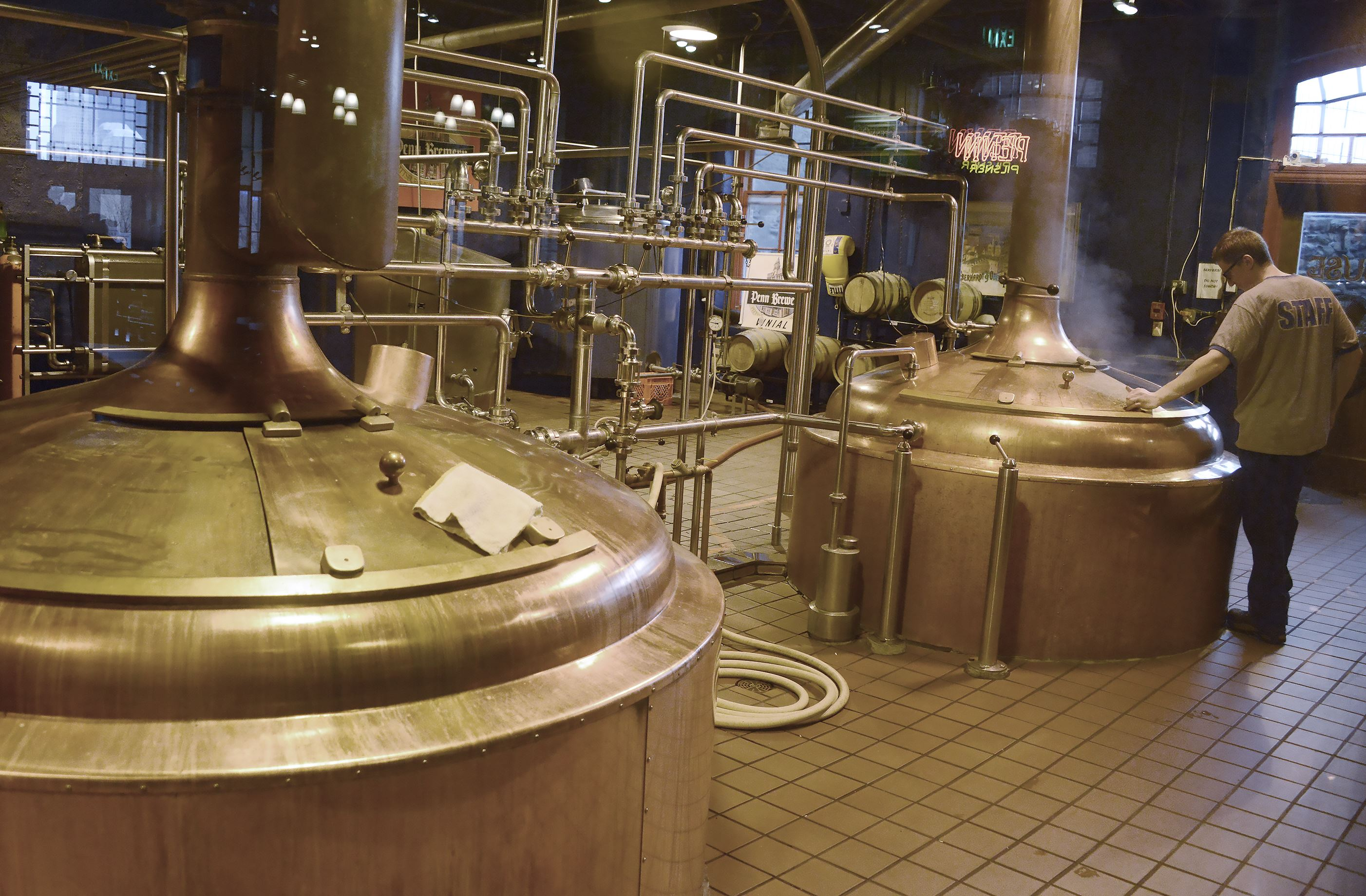 20160404dsCraftBeerSunMag02-1 The brewhouse at Penn Brewery on the North Side.