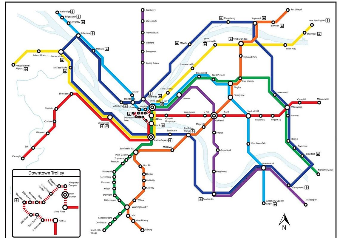 Subway Map 2016.Diana Nelson Jones Walkabout A Subway Map Of Pittsburgh Fancy